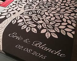 Rustic Wedding Guest Book Alternative Custom Tree Guestbook