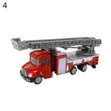 Mini 1:64 Aerial Ladder Fire Truck Simulation Car Model Children ...