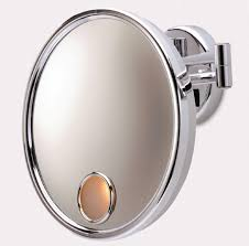 lights arm sided magnified makeup wall mirror mounted