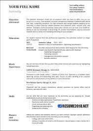 Resume Examples For Sports Marketing And Related Post Make Perfect Sample Internship