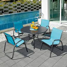 Sling Back Stackable Patio Chairs by 30 Model Patio Dining Sets Sling Chairs Pixelmari Com