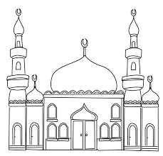 Mosque Colouring Page Ramadan Printable
