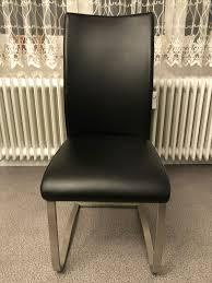 6x schwarze esszimmerstühle kunstleder