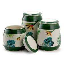 Ceramic Kitchen Canister Sets Elama 3 Ceramic Decorative Kitchen Canister Set