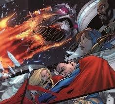 The Issue Picks Up Right Where Superman 699 Left Off Luthor Has Begun Enlarging An Alien City On Brainiacs Ship Causing It To Plummet Surface Of
