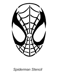 Superman Batman Pumpkin Stencil by Spiderman Face Template Cliparts Co