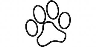 Paw Print Applique Machine Embroidery By Trendystitchdesigns