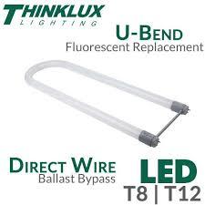 thinklux u bent led light 18 watts ballast bypass
