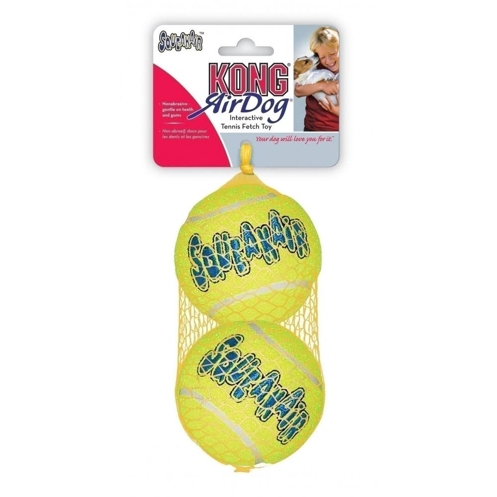 Kong Air Dog Squeaker Tennis Balls - x2
