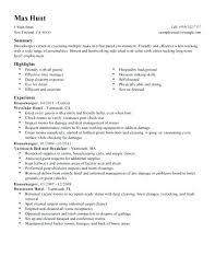 Head Housekeeper Cv Template Unique Housekeeping Resume Sample