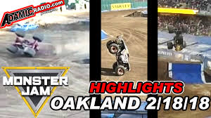 100 Monster Truck Oakland Jam Coliseum 21818 Highlights Including
