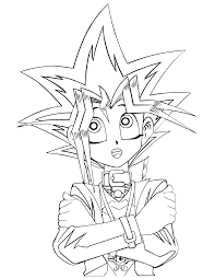 Kids In Yugioh Coloring Pages