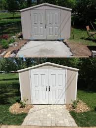 Suncast Storage Shed Sears by Paver Walkway To Shed Shed Makeover Pinterest Paver Walkway