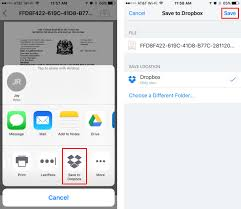 How do I transfer a file from iCloud Drive directly to Dropbox