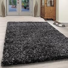rugs teppich jamaica shaggy grau läufer soft einfarbig