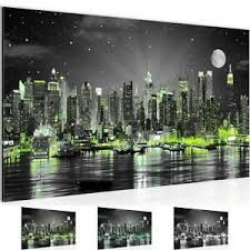 details zu wandbild modern wohnzimmer new york city schwarz grün schlafzimmer bilder