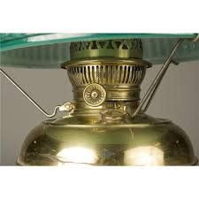 Rayo Oil Lamp Shades by Antique Rayo Brass Oil Lamp And Shade