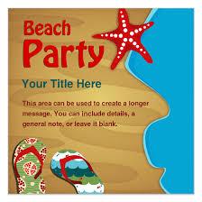 Beach Party Invitations Templates