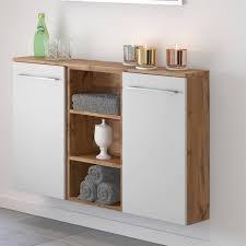 lomadox unterschrank louny 03 badezimmer sideboard in wotaneiche nb mit matt weiß b h t ca 90 66 20 cm kaufen otto