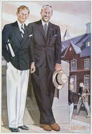 1930s Mens Style Inspiration Classic Navy Blazer With White Pants Oozes Summer Fashion