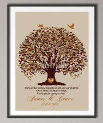 Personalized Couples Wedding Anniversary Gifts Family Tree Quote Wall Art Poster Print Pictures Canvas Painting