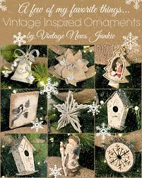 Vintage Inspired Rustic Christmas Ornaments Holiday