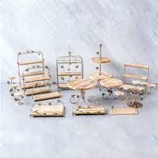 Wooden Wood Cake Stands Dessert Tray Bread Baking Shop Display Plates Wedding Home Party Table Decoration