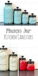 Rustic Kitchen Canister Set Mason Jar Canisters Flour And Sugar
