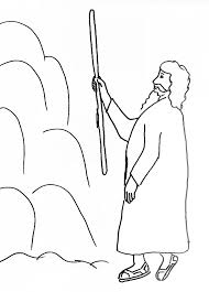 Moses And Water In The Wilderness Coloring Page Link To Bible Story Manna