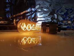 La Tee Da Lamps by Our 5 Watt Amber Glass Vintage Edison Spiral Led Filament Light