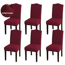 Awland Stretch Jacquard Dining Chair Slipcovers Removable Short Dining  Chair Covers Seat Slipcover Kitchen Parson Chair Protector For Hotel,  Ceremony, ... Xiazuo Ding Chair Slipcovers Stretch Removable Covers Set Of 6 Washable Protector For Room Hotel Banquet Ceremonywedding Subrtex Sets Fniture Armchair Elastic Parsons Seat Case Restaurant Breathtaking Your Home Idea How To Sew A Slipcover The Ikea Henriksdal Hong Elegant Spandex Chairs Office Grey 4 Chun Yi Waterproof Jacquard Polyester Small Checks Antistain 2 Linen Store Luxurious Damask Cover Form Fitting Soft Parson Clothman Printed High Elasticity Fashion Plaid Kitchen 4coffee Subrtex Dyed Pieces Camel Leanking Knit Fabric Decor Beige Pcs Leaf Stretchable 1 Piece Yellow