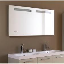 miroir salle de bain rétro éclairage led horloge et antibué