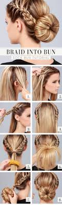 How To Make Gorgeous Braid Into Bun Hair Style Step By DIY Tutorial Instructions