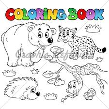 Coloring Book With Forest Animals 3 Vector Il