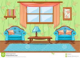 stellen sie karikatur gepolsterte möbel wohnzimmer ein
