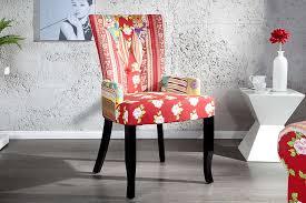 esszimmerstuhl patchwork design bunt baumwolle dunord design