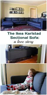 Karlstad Sofa Cover Isunda Gray by Our New Ikea Karlstad Sectional A Love Story