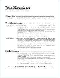 Resume Examples For Massage Therapist Example Physical Assistant Sample Occupational