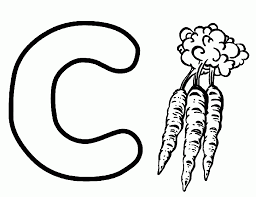 Carrot Is From C Coloring Pages Alphabet