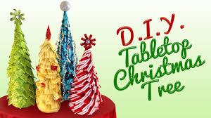 Tabletop Live Christmas Trees by Diy Tabletop Christmas Tree Youtube