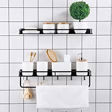 badezimmer organizer ablagefächer platzsparend für küche badezimmer schwarz