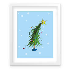 The Grinch Christmas Tree by Amazon Com The Who Ville Christmas Tree Snow G2f Framed Dr