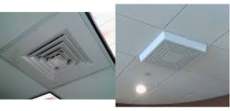 Drop Ceiling Vent Deflector by Elima Draft Model