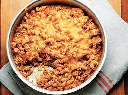 One Skillet Beefy Enchilada Noodle Casserole