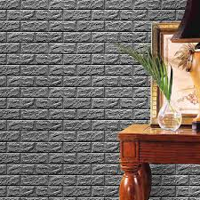 3D Brick Stone Wallpaper Wall Stickers Self Adhesive Panels Decal DIY Home Living Room Decoration