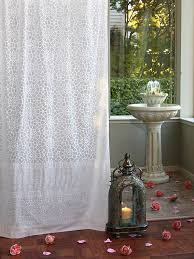 Chiffon Curtains Online India by Saffron Marigold Royal Mansoor White Sheer Curtain Panel