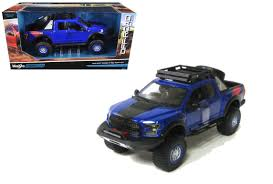 100 Toy Ford Trucks 2017 F150 Raptor Blue Off Road Kings Truck 124 Scale Diecast