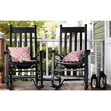 Shop Garden Treasures Black Patio Rocking Chair At Lowes.com ...