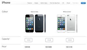 Apple iPhone 5 Singapore Prices are Revealed starts from S$948