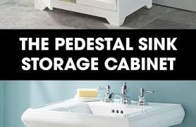 Pedestal Sink Storage Cabinet by Dvd And Cd Storage Cabinet Ideas On Storage Cabinet